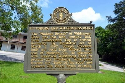 Pittsburg and Wilderness Road Marker image. Click for full size.