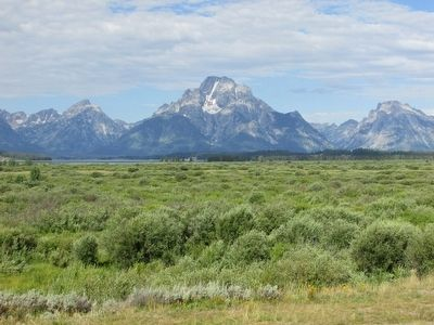 Teton Range Seen from the Marker image. Click for full size.