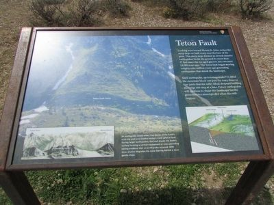 Teton Fault Marker image. Click for full size.