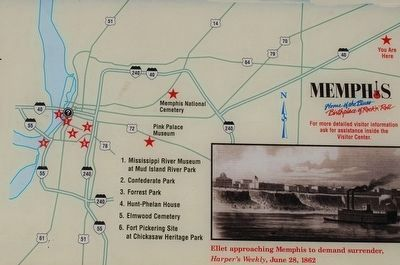 Memphis's Civil War Sites Marker Map image. Click for full size.