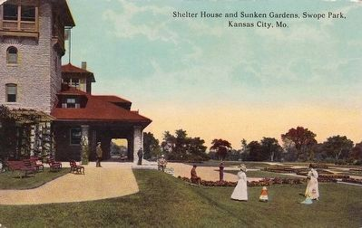 <i>Shelter House and Sunken Gardens, Swope Park, Kansas City, Mo.</i> Photo, Click for full size