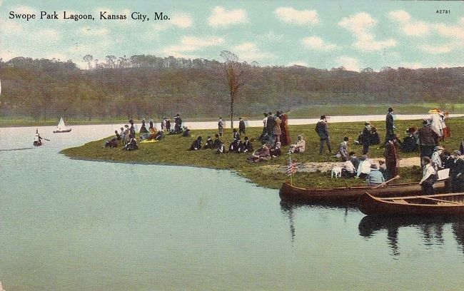 <i>Swope Park Lagoon, Kansas City, Mo.</i> Photo, Click for full size