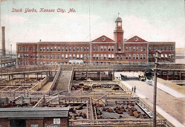 <i>Stock Yards, Kansas City, Mo.</i> image. Click for full size.