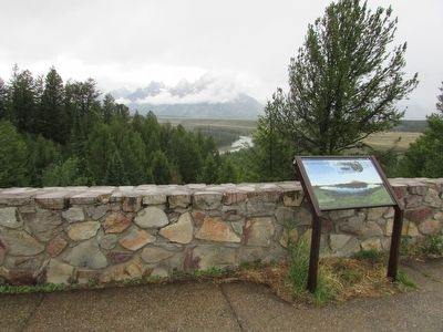 Marker in Grand Teton National Park image. Click for full size.