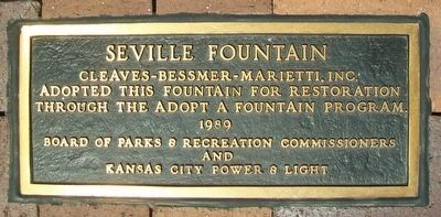 The Seville Light Fountain Adoption Marker image. Click for full size.