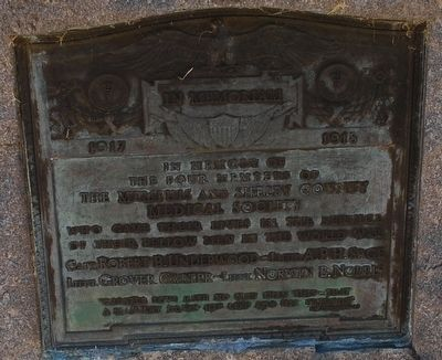 Memphis and Shelby County Medical Society Marker image. Click for full size.