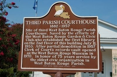 Third Parish Courthouse Marker image. Click for full size.
