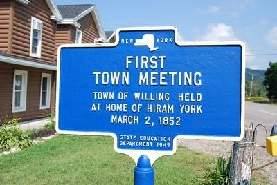First Town Meeting Marker image. Click for full size.