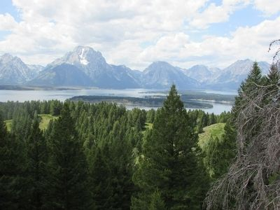 Teton Range and Valley Seen from the Marker image. Click for full size.