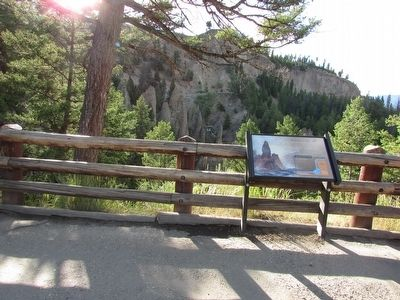 Marker in Yellowstone National Park image. Click for full size.