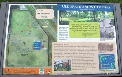 Old Franklinton Cemetery Archaeology Marker image. Click for full size.