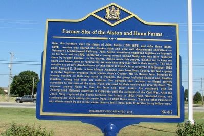 Former Site of the Alston and Hunn Farms Marker image. Click for full size.