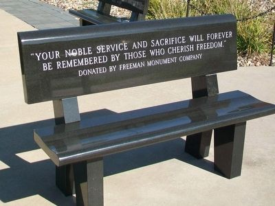 Defenders of Freedom Veterans Memorial Bench image. Click for full size.