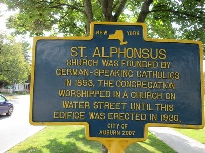 St. Alphonsus Marker image. Click for full size.
