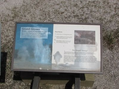 Grand Geyser Marker image. Click for full size.
