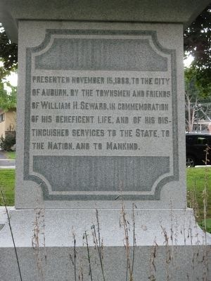William H. Seward Memorial image. Click for full size.