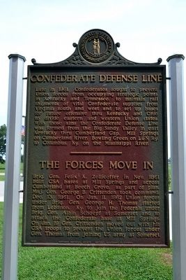 Confederate Defense Line Marker image. Click for full size.