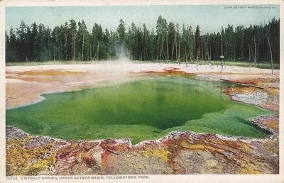 <i>Emerald Spring, Upper Geyser Basin, Yellowstone National Park</i> image. Click for full size.