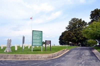 View to East from Cemetery Entrance Driveway image. Click for full size.