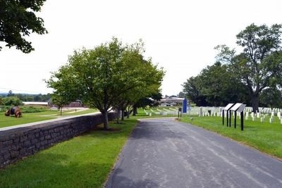 View to West from Cemetery Driveway image. Click for full size.