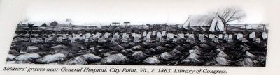 Soldiers' Graves, City Point, Virginia, c. 1863 image. Click for full size.