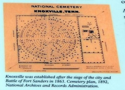 Knoxville Cemetery Plan, 1892 image. Click for full size.