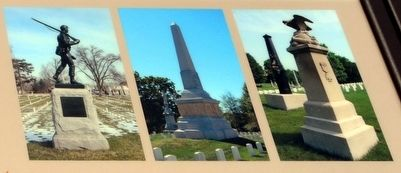 National Cemetery Monuments image. Click for full size.