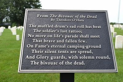 The Bivouac of the Dead by Theodore O'Hara image. Click for full size.