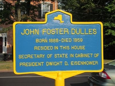 John Foster Dulles Marker image. Click for full size.