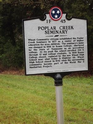 Poplar Creek Seminary Marker image. Click for full size.