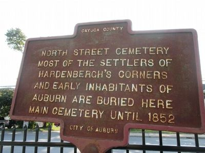 North Street Cemetery Marker image. Click for full size.