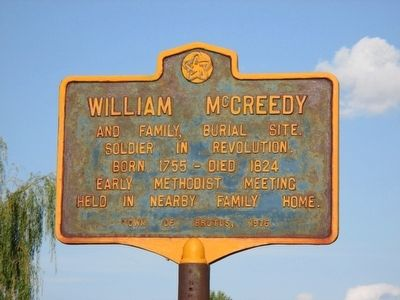 William McCreedy Marker image. Click for full size.
