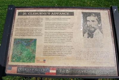 Cleburne's Advance Marker image. Click for full size.