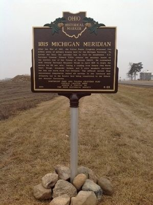 1815 MICHIGAN MERIDIAN Marker image. Click for full size.