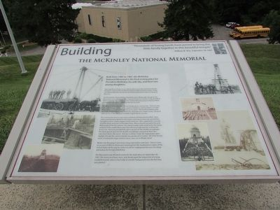 Building the McKinley National Memorial Marker image. Click for full size.