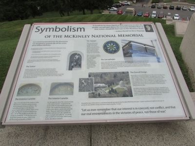 Symbolism of the McKinley National Memorial Marker image. Click for full size.