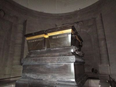 Sarcophagus of President and Mrs. McKinley image. Click for full size.