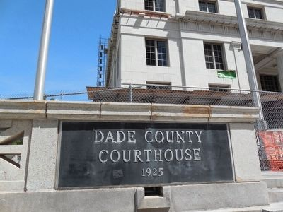 Dade County Courthouse Sign image. Click for full size.
