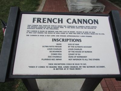 French Cannon Marker image. Click for full size.