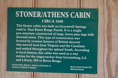 Stoner/Athens Cabin Marker image. Click for full size.