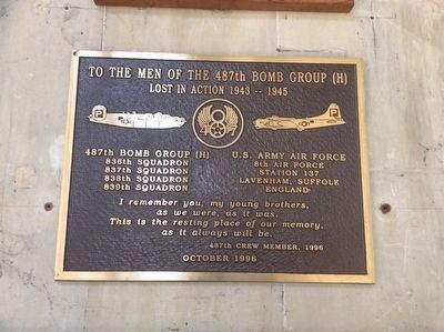 487th Bomb Group Marker (refurbished) image. Click for full size.