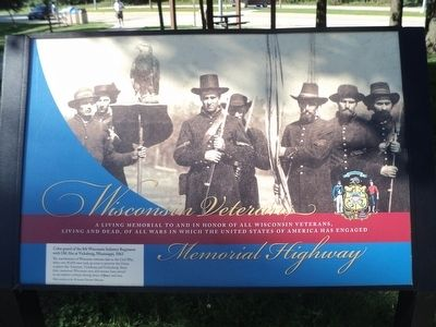Wisconsin Veterans Memorial Highway Marker image. Click for full size.