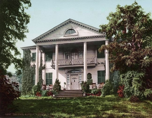 <i>The Jumel Mansion, Washington Heights, New York. </i> image. Click for full size.