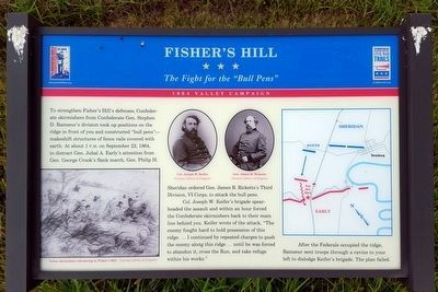 Fisher�s Hill Marker image. Click for full size.