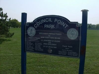 Sign at the entrance to Council Point Park image. Click for full size.