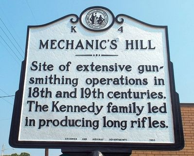 Mechanic's Hill Marker image. Click for full size.
