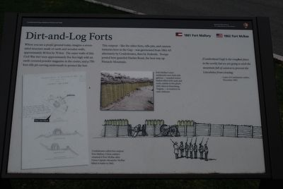 Dirt-and-Log Forts Marker image. Click for full size.