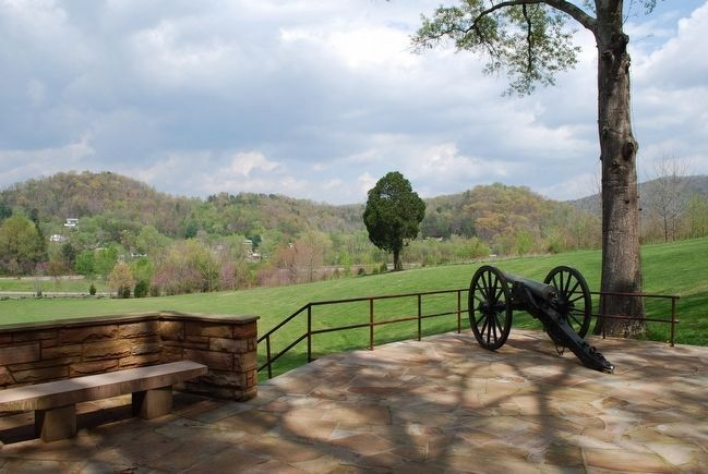 Cumberland Gap Visitor Center Cannon image. Click for full size.