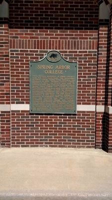 Spring Arbor College Marker image. Click for full size.