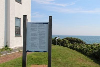 History of the Beavertail Light Station Marker image. Click for full size.